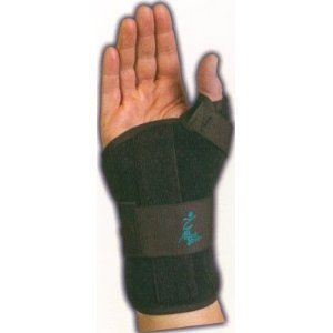 Med Spec Ryno Lacer Wrist Support Short, Black, Medium Rght