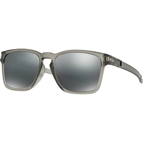 Oakley Men's OO9358 Latch Rectangular Sunglasses, Matte Grey Ink, 55 mm (Oakley Brillen Günstig)