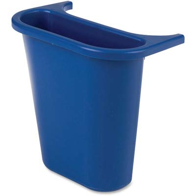 (RUBBERMAID COMMERCIAL PROD 295073BE Wastebasket Recycling Side Bin, Attaches Inside or Outside, 4.75qt, Blue)