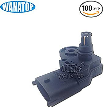 MAP Sensor Manifold Pressure Sensor fit 46553045 0261230030 for Fiat 500 Brava Bravo Doblo Idea Linea Palio Panda Punto Qubo Stilo Alfa Romeo Mito 2008-2014 Lancia Musa Ypsilon 2003-2014 Doicoo