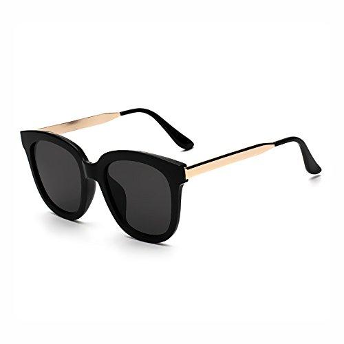 Cadres noirs de Trendy Lunettes Femme Outdoor Grande Oval Classic soleil Bmeigo Homme Shades Vintage Lunettes C5xwqWzvaZ