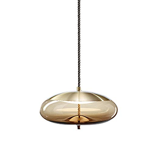 Post-Modern Ceiling Pendent Hanging Light Study Room Aisle Window Bar Bed Linen Hemp Rope Glass Chandelier ()
