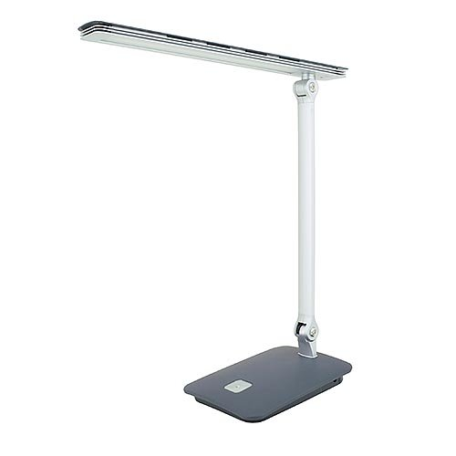 LEDwholesalers 3-level Dimmable Touch Switch Folding LED Desk Lamp 7 Watt, Pure White 2403WH