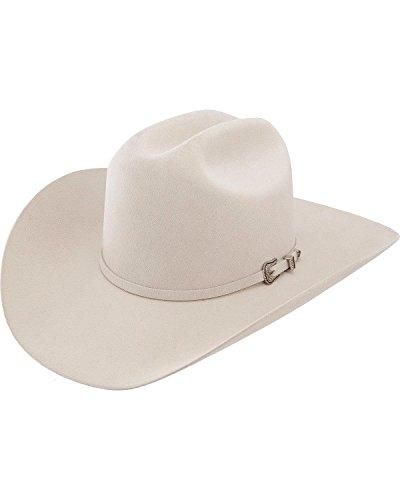 Resistol Men's 5X Challenger Fur Felt Silverbelly Cowboy Hat Silverbelly 7 1/8 ()