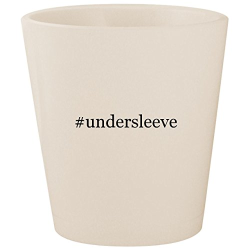- #undersleeve - White Hashtag Ceramic 1.5oz Shot Glass