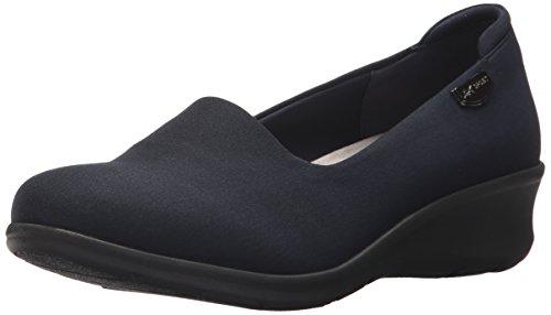 Flat Klein Womens Shoes (Anne Klein AK Sport Women's Sasha Fabric Loafer, Navy, 8.5 M US)
