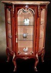 Barock Vitrine Rokoko Antik Stil Schrank Louis XV MoVi0690