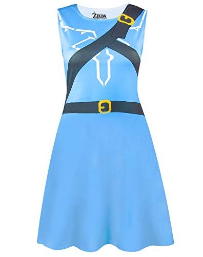 The Legend Of Zelda Breath Of The Wild Women's Costume Dress Ladies Fancy Dress Party Cosplay]()
