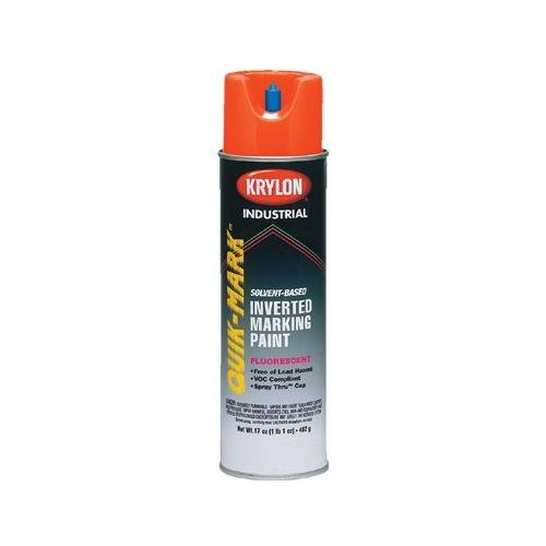 Krylon Industrial Quik-Mark 37028 Fluorescent Orange Alkyd E