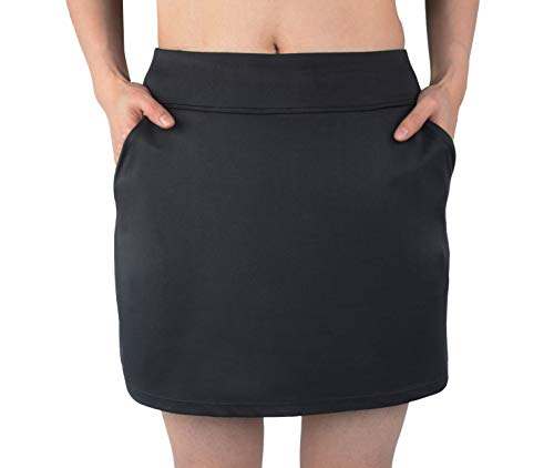slimour Women Causal Travel Skirt with Pockets Athletic Skorts Hiking High Waist Active Black 4 ()