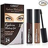 Eyebrow Makeup Gel, Eyebrow Tint Gel, Eyebrow Dye Cream, 2Pcs Natural Color Eyebrow Gel, Waterproof Long Lasting Eyebrow Dye Gel for Eyebrow Makeup