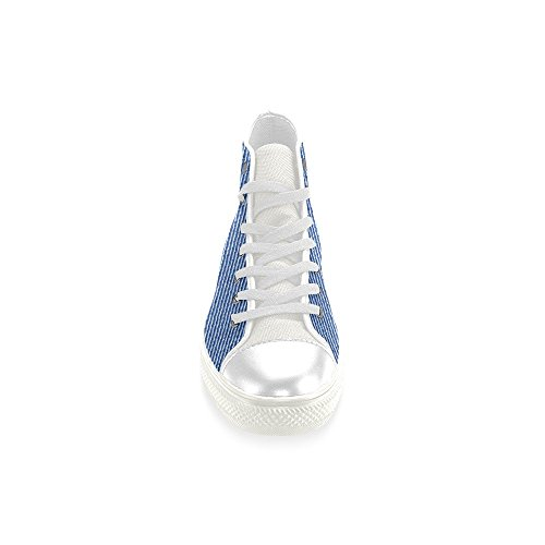 InterestPrint Lace-up Blue Classic High Top Men Sneakers Fashion Fitness Canvas Shoes HJBV01pn4