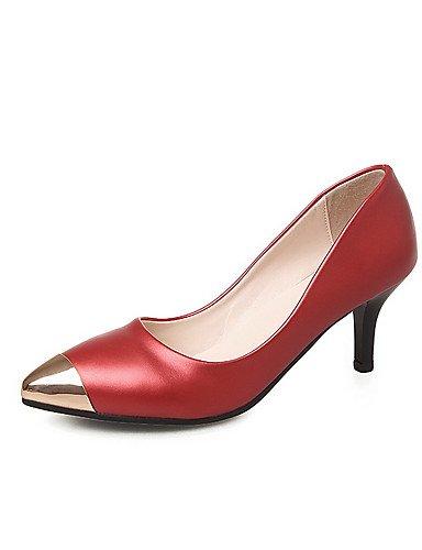 GGX/Damen Spitz geschlossen Zehen Spikes Absätzen massiv Pull auf pumps-shoes golden-us7.5 / eu38 / uk5.5 / cn38