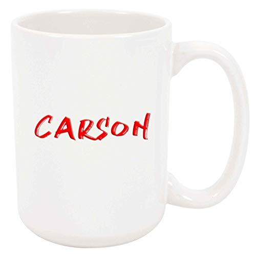 Carson - White Mug - 15 Ounce Coffee Tea Mug, White Ceramic, Unique Name Present Gift Birthday Idea Girlfriend Wife Sister Mother Mom Grandmother Daughter Girl Aunt Niece Friend Woman Co-Worker