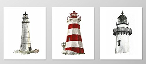 Lighthouse painting.Nautical wall art.Lighthouse wall art.Lighthouse