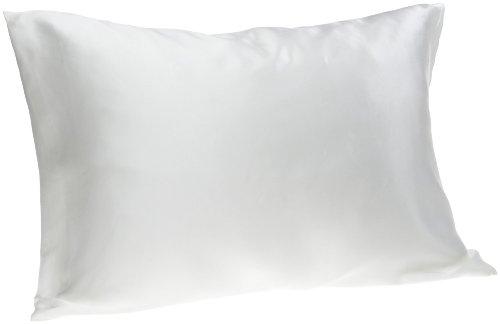 Spasilk 100% Pure Silk Facial Beauty Pillowcase, Standard/Queen Size Natural While