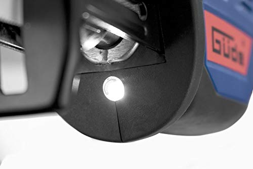 2 Ah blu G/üde 72083 USS 12 Seghetto universale a batteria rosso. caricatore rapido 2A lampada a LED set da 4 pezzi Batteria 12 V E3