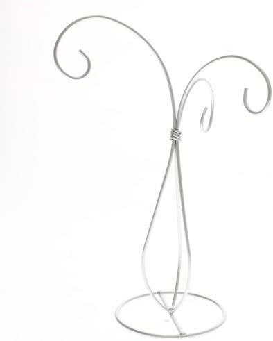"""10/"""" Tall Black Sprial Wire Ornament Holder Display Stand"""