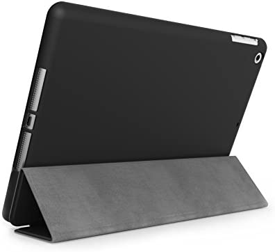 KHOMO iPad Air 1 Case - Dual Black Super Slim Cover with Rubberized Back and Smart Feature (Built-in Magnet for Sleep/Wake Feature) for Apple iPad Air ...