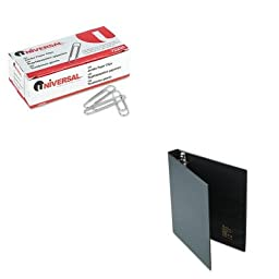 KITAVE79990UNV72220 - Value Kit - Avery Heavy-Duty Binder with One Touch EZD Rings (AVE79990) and Universal Smooth Paper Clips (UNV72220)