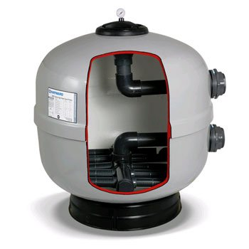 Hayward HCF302 30-Inch Fiberglass Commercial HCF Series Sand Filter with 2-Inch Bulkhead Connections by Hayward