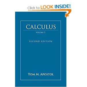Calculus, Vol. 1: One-Variable Calculus, with an Introduction to Linear Algebra Tom M. Apostol
