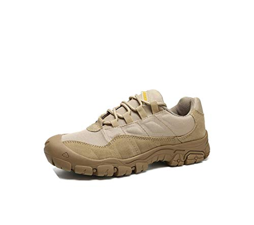149e809373042 Emma Amy Cow Leather Work Safety Male Sneakers Shoes for Men Non-Slip  Casual Military Army Autumn Patchwork Footwear,Khkai,40