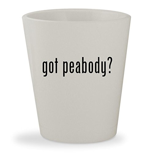 got peabody? - White Ceramic 1.5oz Shot (Toys R Us Peabody)