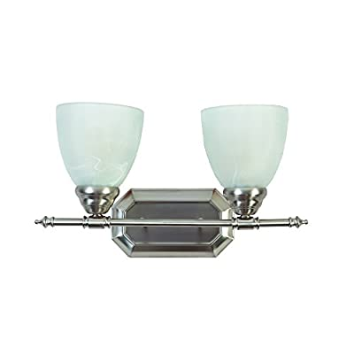 Yosemite Home Décor 6432-2BN Vanity Lighting Series Two Light Vanity, Brush Nickel