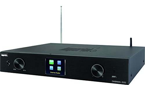 Imperial 22-250-00 DABMAN i500 Hybrid-HiFi-Tuner (WLAN/LAN/DAB+/DAB/UKW, TFT Farbdisplay, USB, Cinch, Optischer/elektrischer Digitalausgang, Fernbedienung, App Steuerung) schwarz