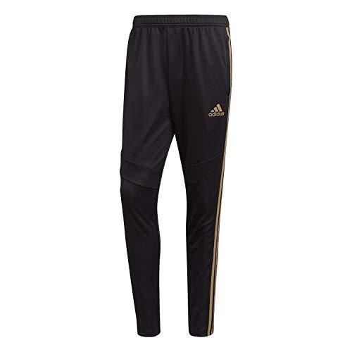 adidas Men's Tiro19 Training Pants, Black/Reflective Gold,Small (Mens Sportswear Clothing)