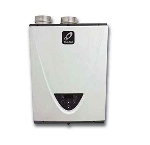 Takagi T-H3-DV-N Condensing High Efficiency Natural Gas Indoor Tankless Water Heater, 10-Gallon Per Minute (Best High Efficiency Natural Gas Boiler)