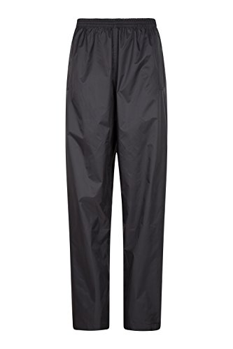 Mountain Warehouse Pakka Womens Rain Pants -Waterproof Overpants Black 6