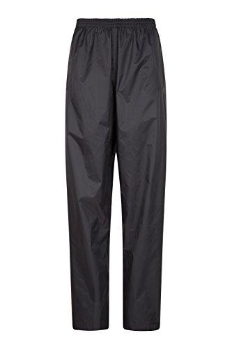 Mountain Warehouse Pakka Womens Rain Pants -Waterproof Ladies Pants Black 6