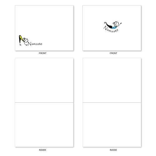 M3963 Namaste Notes: 10 Assorted Blank All-Occasion Note Cards Feature Zen Serenity Yoga Poses, w/White Envelopes. Photo #4