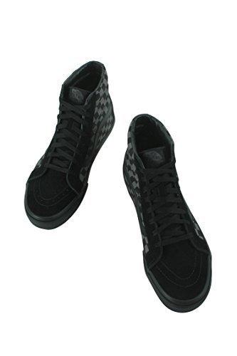 Vans Mens SK8 HI Reissue Checkerboard Black Pewter Size - Hi Tops Vans