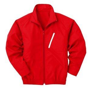 空調服 電池ボックスセット サイズ:M】 【カラー:レッド(赤) P-500BN ポリエステル製長袖ブルゾン B07PGD2MKJ