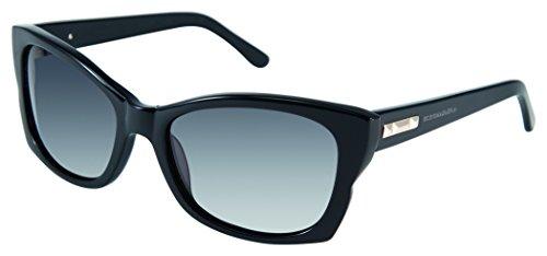 BCBGMaxazria Women's Socialite Square Sunglasses, Black, 42.2 - Sunglasses Bcbgmaxazria