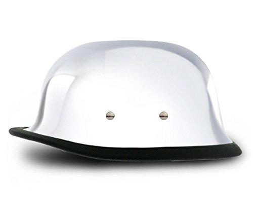Chrome Novelty Motorcycle Helmet - 5