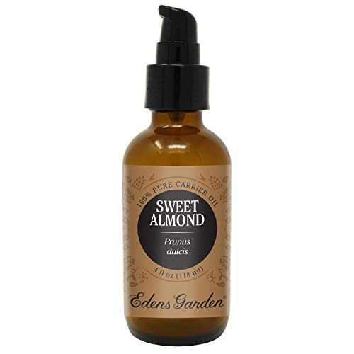 Edens Garden Sweet Almond Carrier Oil (Best For Mixing With Essential Oils), 4 oz