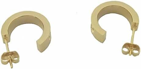 Baoli Gold Titanium Women's Love Stud Earring