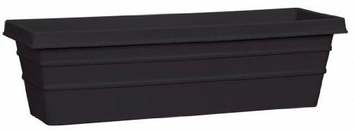 "AKRO-MILS Msw24000g18 24"" Black Marina Box Planter"