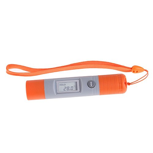 DT8230 Mini Digital Temperature Gauge Non-Contact IR Infrared Thermometer Cylinder Pen, ()