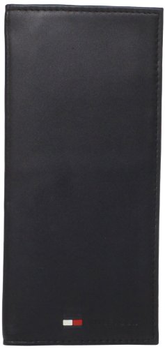 Tommy Hilfiger Men's Sheepskin Secretary Wallet, Black