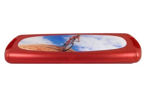 Daily Disposable Red Coloured Contact Lens Storage Case - (Mountain Biking) by cvoptics