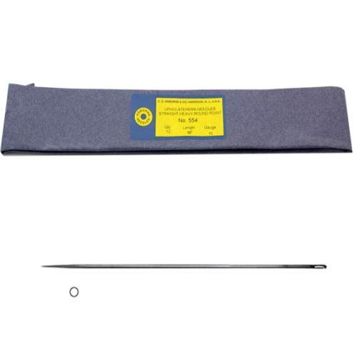 C.S. Osborne Heavy Single Round Point Needle #554, 16'' Long, 11 Gauge - 12/Pk by C.S. Osborne