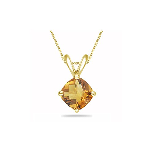 2.19 Cts Citrine Solitaire Pendant in 14K Yellow - Citrine Cts Solitaire