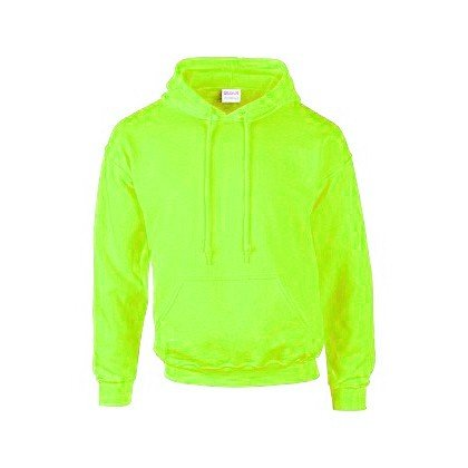 Gildan Uomo l Cappuccio Con Felpa Fluorescente verde wqaT1O