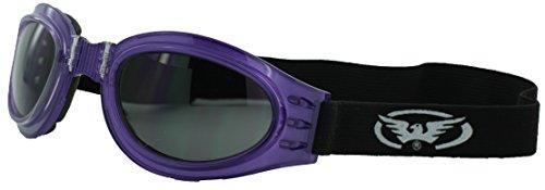 Global Vision Eyewear Adventure Purple Riding Goggles with Smoke - Vision Eyewear Global Corp