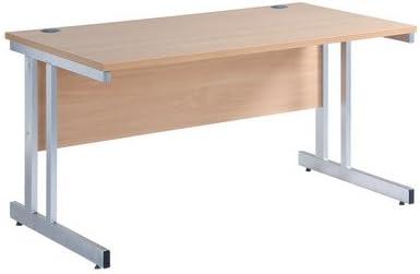 Momento escritorio sin cajones acabado: blanco, tamaño: 73 cm x ...